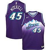 Nike Youth Utah Jazz Donovan Mitchell #45 Hardwood Classic Dri-FIT Swingman Jersey