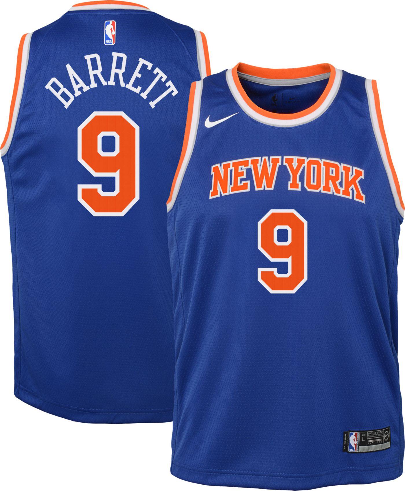 Nike Youth New York Knicks RJ Barrett #9 Royal Dri-FIT Icon Jersey