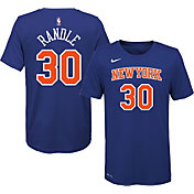 Nike Men's New York Knicks Julius Randle #30 Dri-FIT Blue T-Shirt