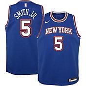 Nike Youth New York Knicks Dennis Smith Jr. #5 Royal Dri-FIT Statement Swingman Jersey