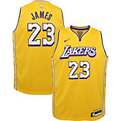 Nike Youth Los Angeles Lakers LeBron James Dri-FIT City Edition Swingman Jersey