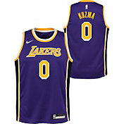 Nike Youth Los Angeles Lakers Kyle Kuzma #0 Purple Dri-FIT Statement Swingman Jersey