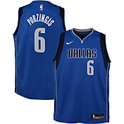 Nike Youth Dallas Mavericks Kristaps Porzingis #6 Blue Dri-FIT Swingman Jersey