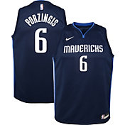 Nike Youth Dallas Mavericks Kristaps Porzingis #6 Navy Dri-FIT Statement Swingman Jersey