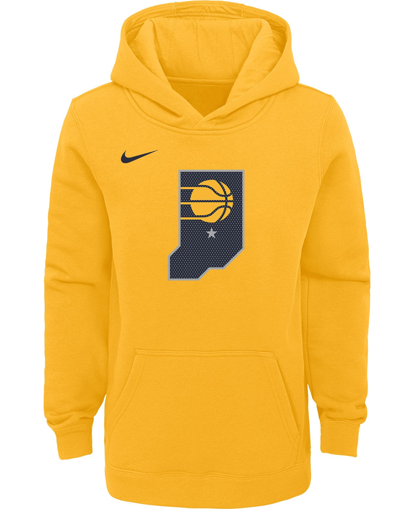 Nike Youth Indiana Pacers Yellow Statement Hoodie