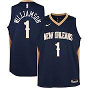 Nike Youth New Orleans Pelicans Zion Williamson #1 Navy Dri-FIT Icon Swingman Jersey
