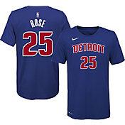 Nike Youth Detroit Pistons Derrick Rose #25 Dri-FIT Blue T-Shirt