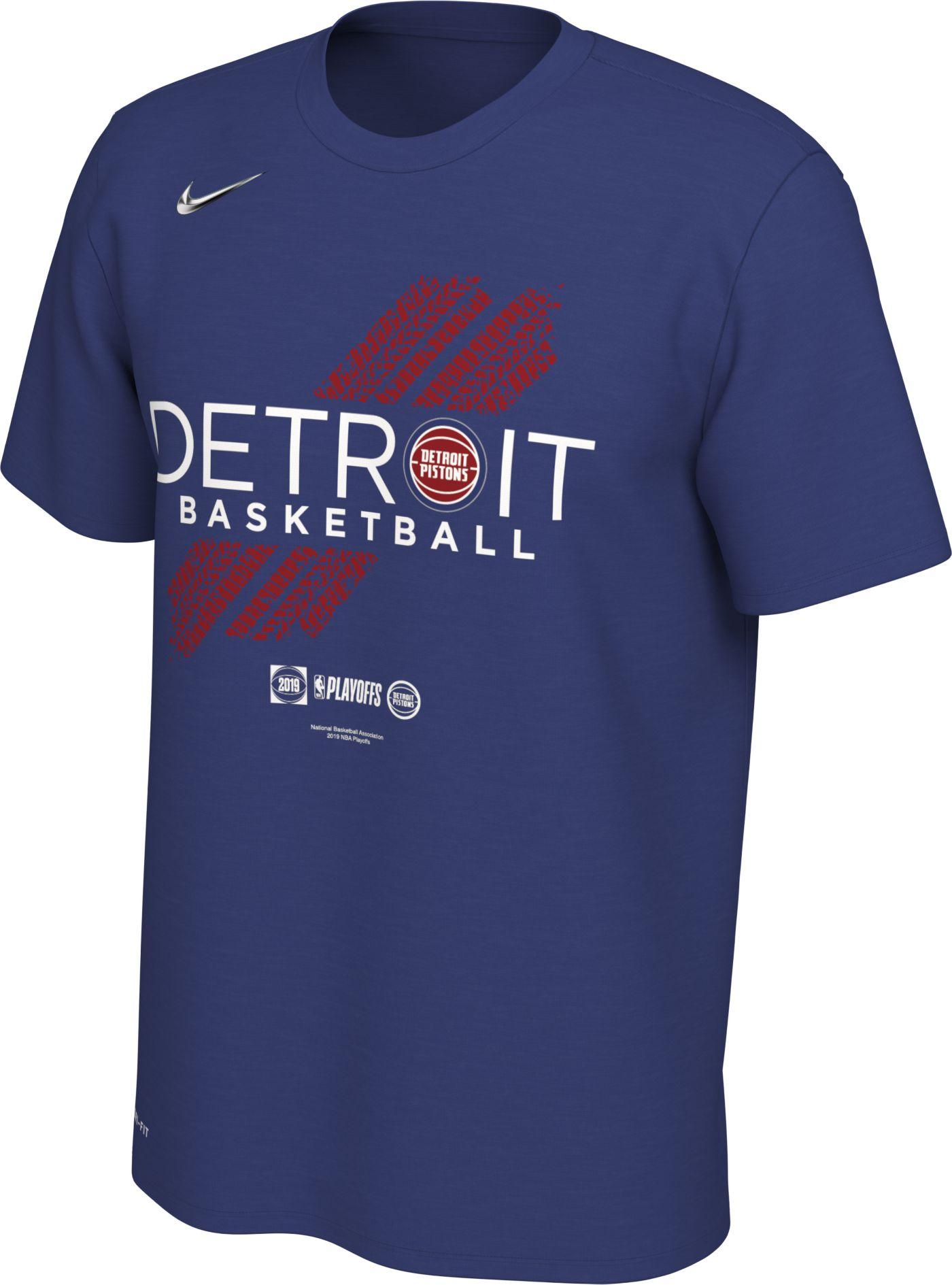 "Nike Youth Detroit Pistons 2019 Playoffs ""Detroit Basketball"" Dri-FIT T-Shirt"