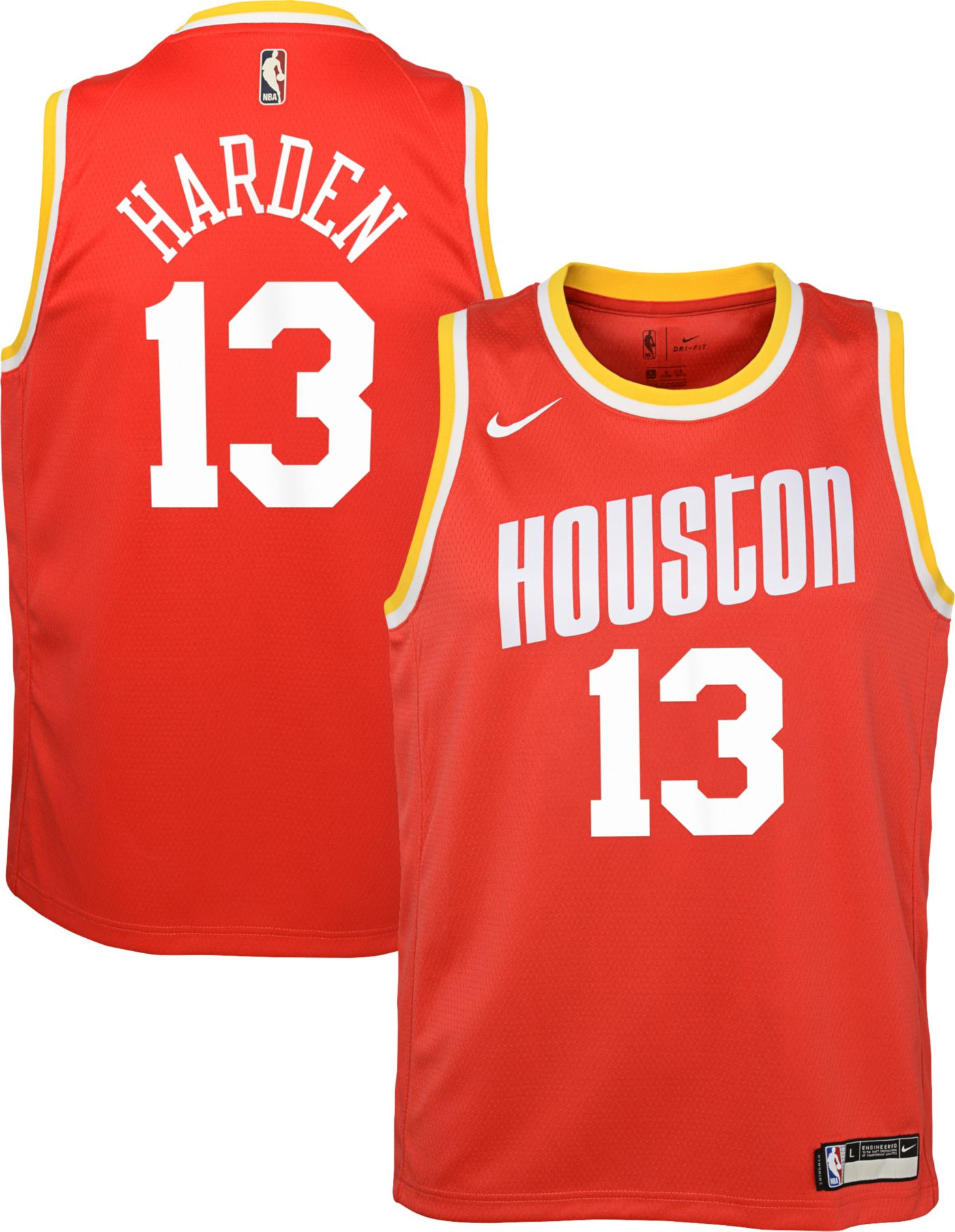 Nike Youth Houston Rockets James Harden #13 Hardwood Classic Dri-FIT Swingman Jersey