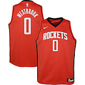 Nike Youth Houston Rockets Russell Westbrook #0 Red Dri-FIT Swingman Jersey