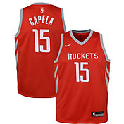 Nike Youth Houston Rockets Clint Capela #15 Red Dri-FIT Swingman Jersey