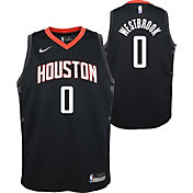 Nike Youth Houston Rockets Russell Westbrook #0 Black Dri-FIT Statement Swingman Jersey