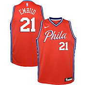 Nike Youth Philadelphia 76ers Joel Embiid #21 Red Dri-FIT Statement Swingman Jersey