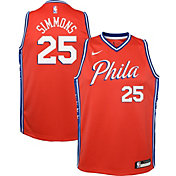 Nike Youth Philadelphia 76ers Ben Simmons #25 Red Dri-FIT Statement Swingman Jersey