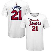 Nike Youth Philadelphia 76ers Joel Embiid #21 Dri-FIT Hardwood Classic T-Shirt