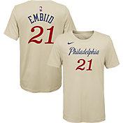 Nike Youth Philadelphia 76ers Joel Embiid Dri-FIT City Edition T-Shirt