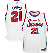 Nike Youth Philadelphia 76ers Joel Embiid #21 Hardwood Classic Dri-FIT Swingman Jersey