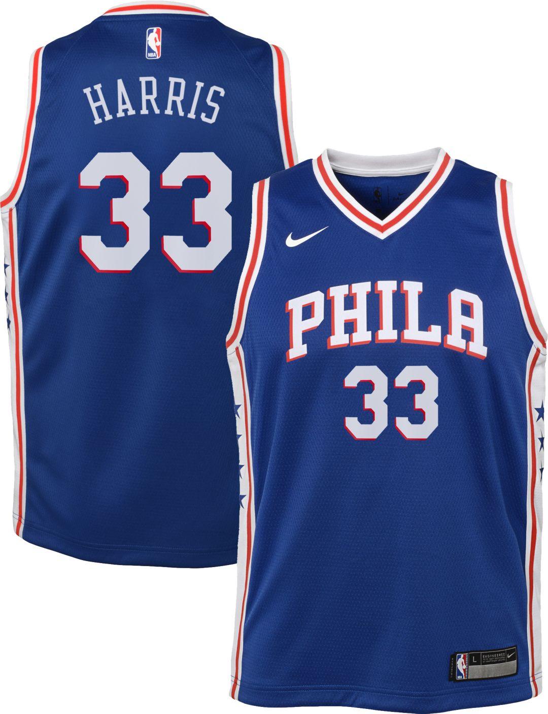 best loved d8214 013b7 Nike Youth Philadelphia 76ers Tobias Harris #33 Royal Dri-FIT Swingman  Jersey