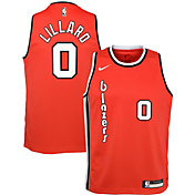 Nike Youth Portland Trail Blazers Damian Lillard #0 Hardwood Classic Dri-FIT Swingman Jersey