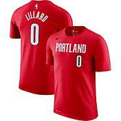 Nike Youth Portland Trail Blazers Damian Lillard #0 Dri-FIT Statement Red T-Shirt