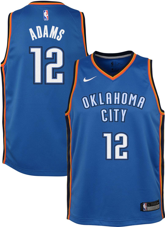 new arrival 40155 f9996 Nike Youth Oklahoma City Thunder Steven Adams #12 Blue Dri-FIT Swingman  Jersey
