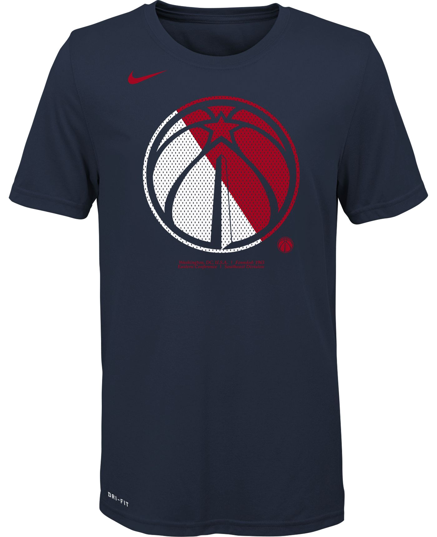 Nike Youth Washington Wizards Dri-FIT Split Logo T-Shirt