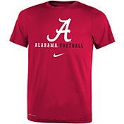 Nike Youth Alabama Crimson Tide Crimson Football Icon Wordmark T-Shirt