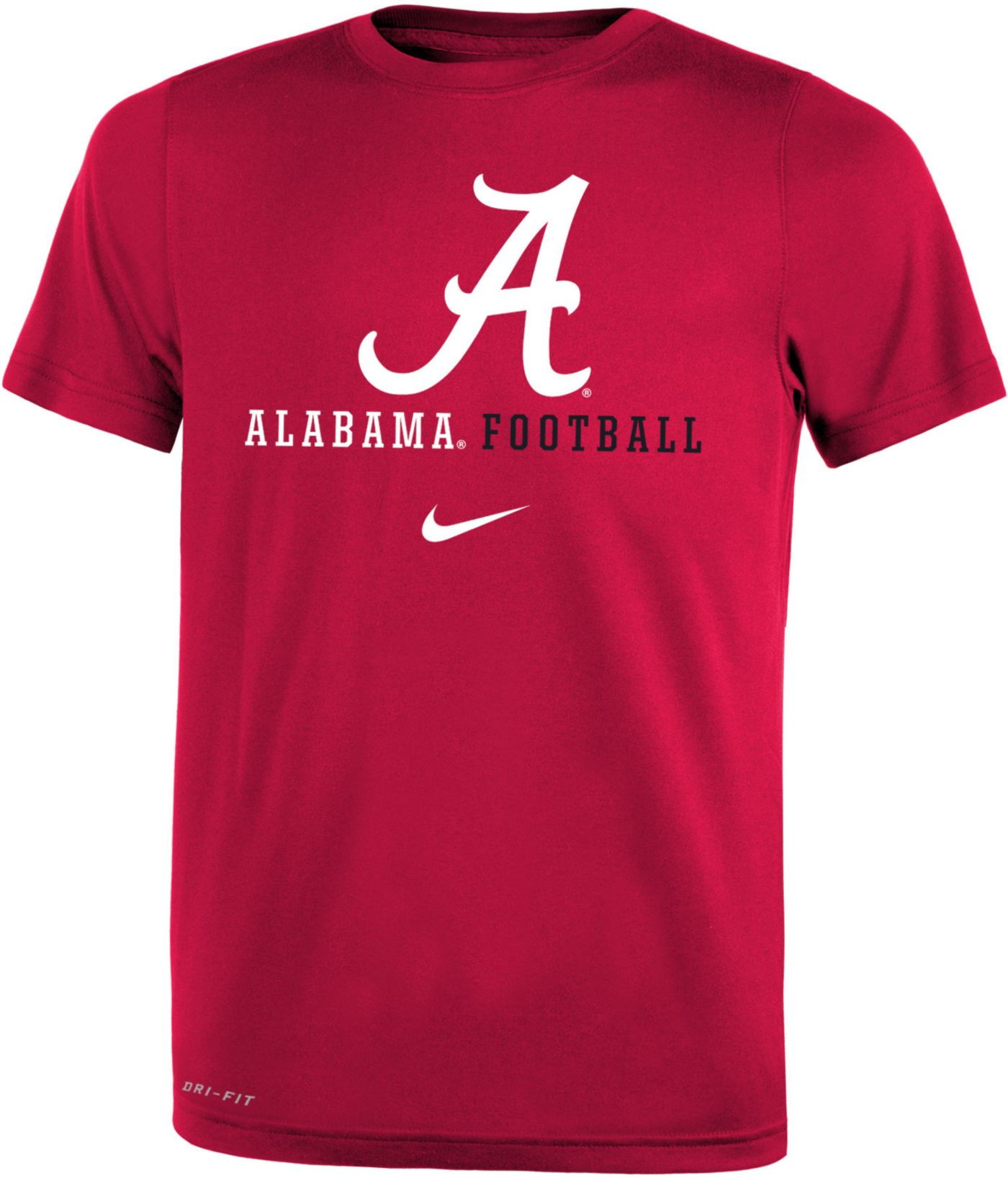 Nike Youth Alabama Crimson Tide Crimson Football Icon Wordmark T-Shirt
