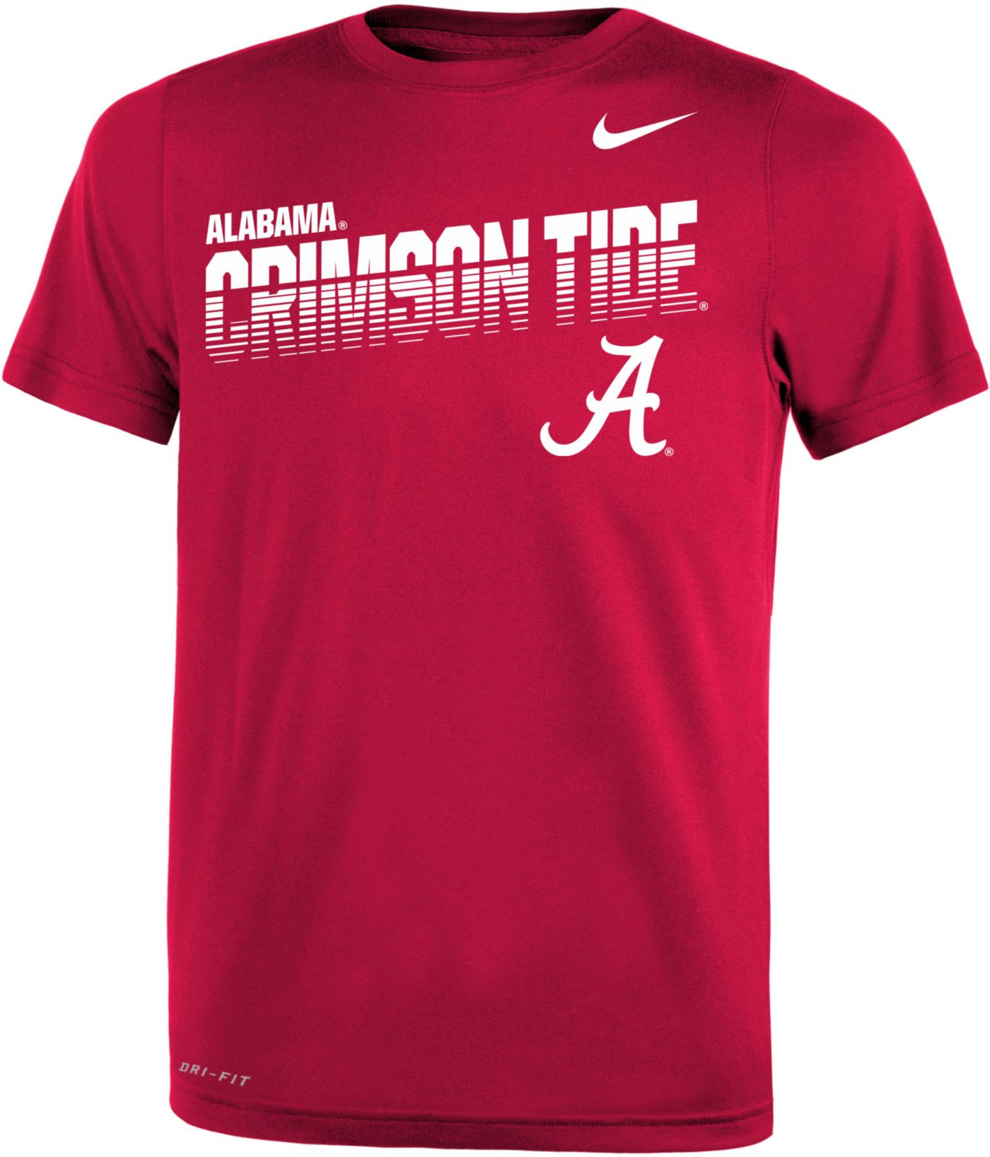 Nike Youth Alabama Crimson Tide Crimson Legend Football Sideline T-Shirt