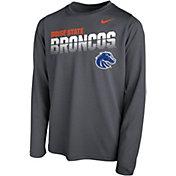 Nike Youth Boise State Broncos Grey Legend Football Sideline Long Sleeve T-Shirt