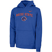 Nike Youth Boise State Broncos Blue Club Fleece Pullover Hoodie
