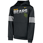 Nike Youth Baylor Bears Therma Football Sideline Pullover Black Hoodie