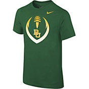 Nike Youth Baylor Bears Green Cotton Football Icon T-Shirt