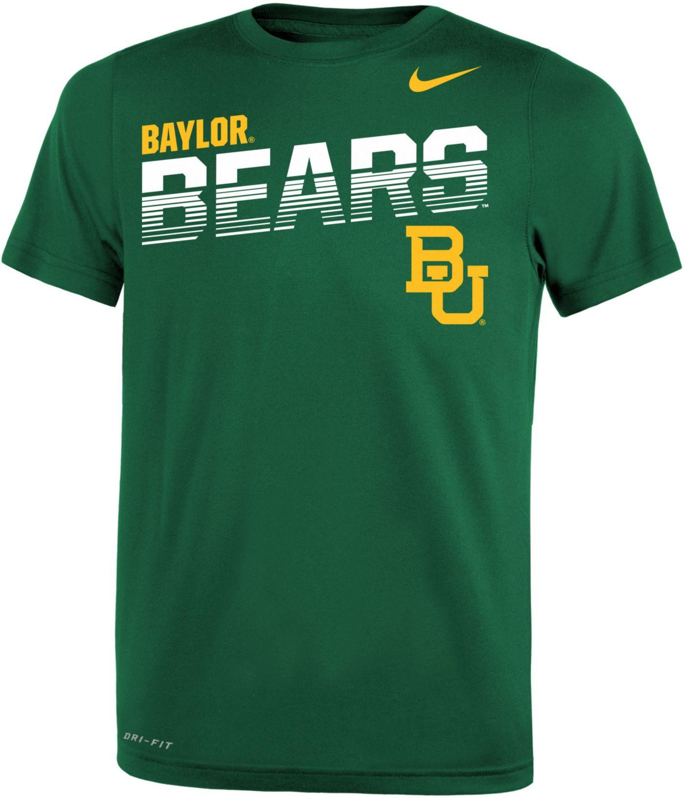 Nike Youth Baylor Bears Green Legend Football Sideline T-Shirt