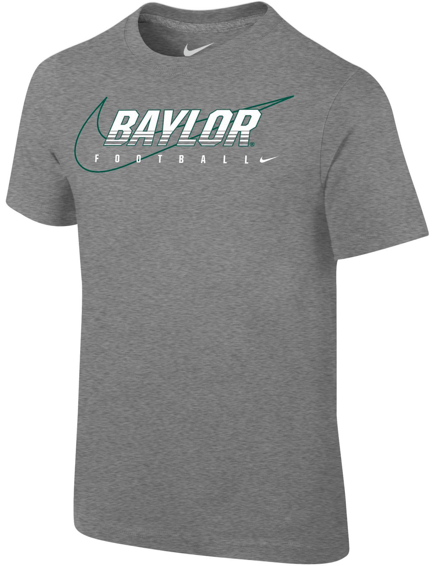 Nike Youth Baylor Bears Grey Football Dri-FIT Cotton Preschool Facility T-Shirt