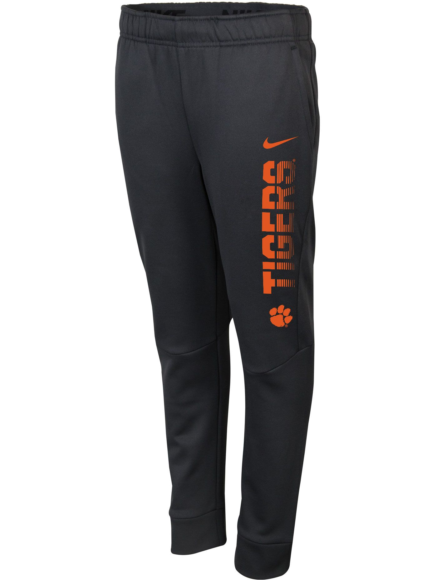 Nike Youth Clemson Tigers Grey Therma-FIT Tapered Pants