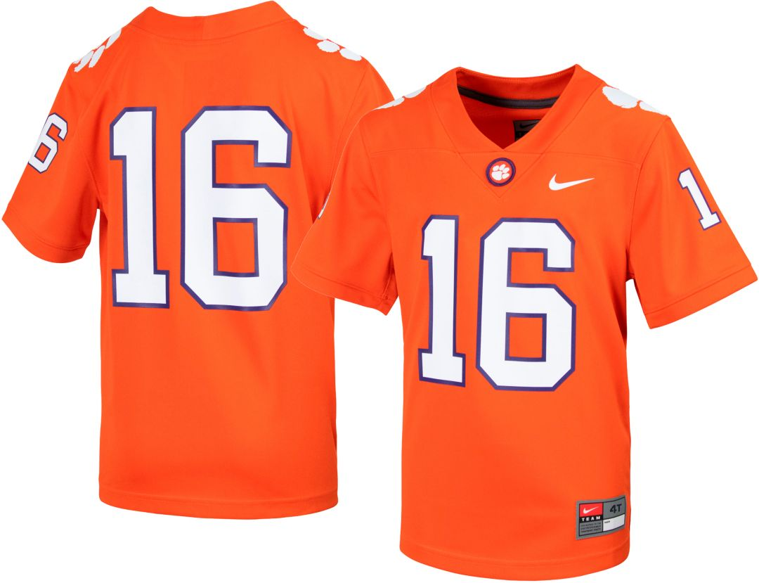 reputable site 7fcd6 2a1cd Nike Youth Clemson Tigers #16 Orange Replica Football Jersey