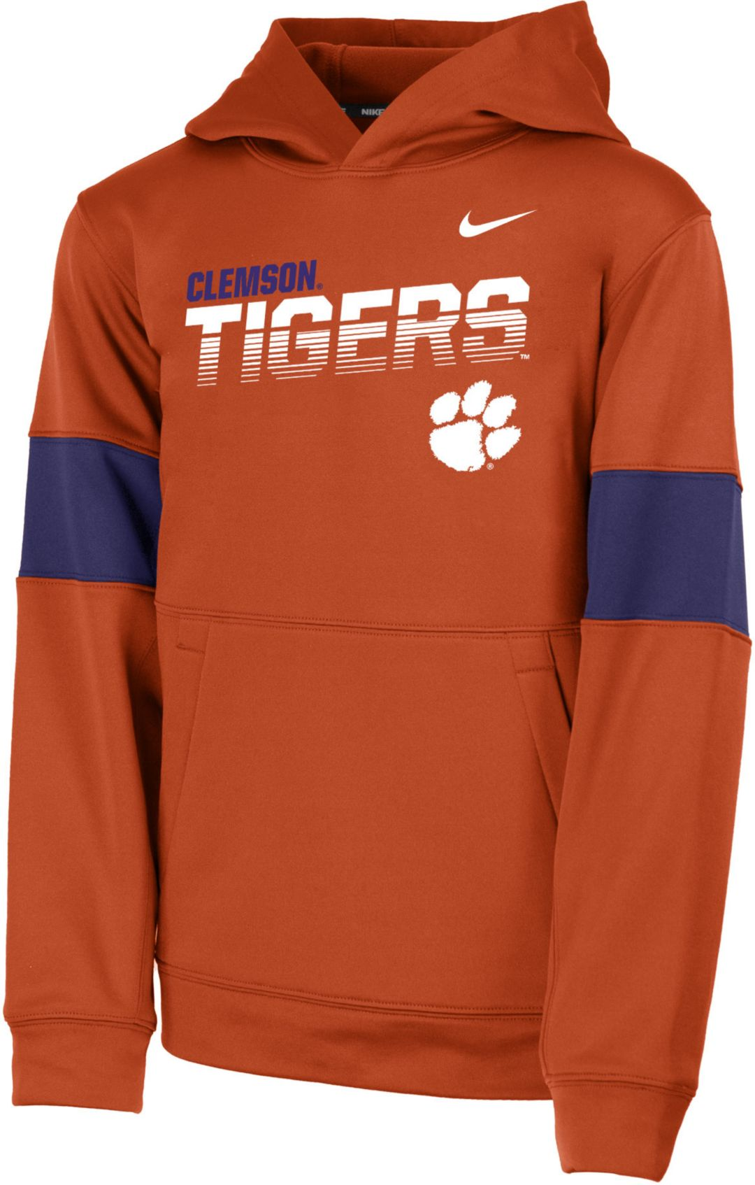 reputable site more photos amazing selection Nike Youth Clemson Tigers Orange Therma Football Sideline Pullover Hoodie