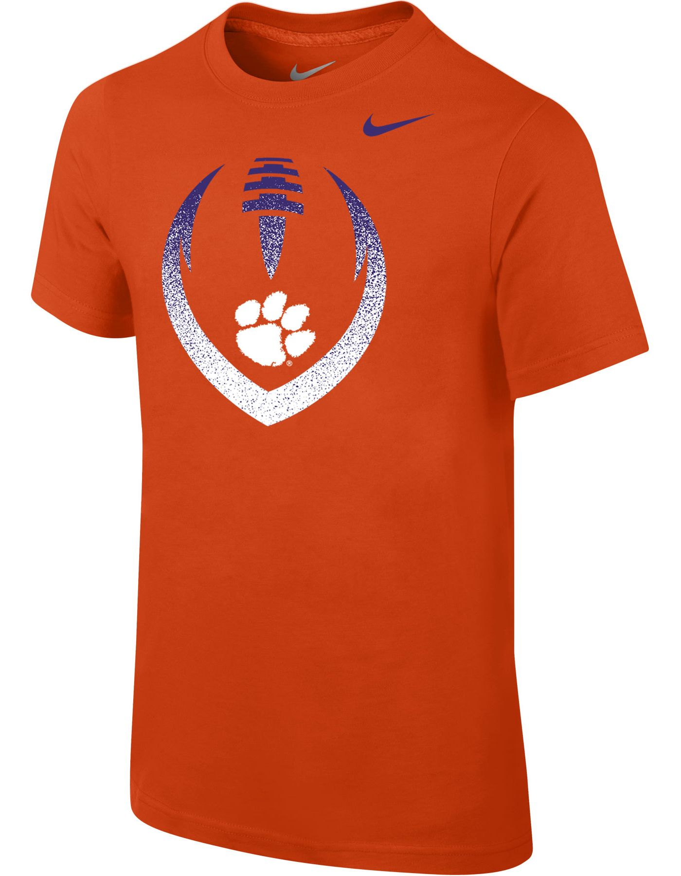 Nike Youth Clemson Tigers Orange Cotton Football Icon T-Shirt