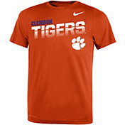 Nike Youth Clemson Tigers Orange Legend Football Sideline T-Shirt