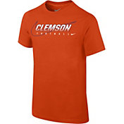 Nike Youth Clemson Tigers Orange Football Dri-FIT Cotton Facility T-Shirt