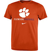 Nike Youth Clemson Tigers Orange Football Icon Wordmark T-Shirt