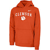 Nike Youth Clemson Tigers Orange Club Fleece Pullover Hoodie