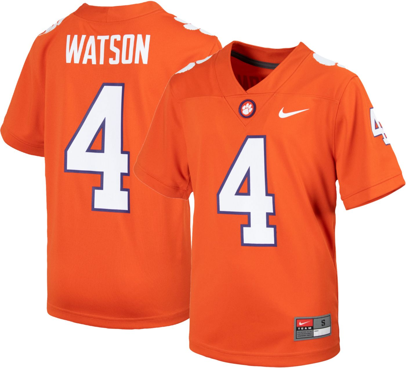 Nike Youth Deshaun Watson Clemson Tigers #4 Orange Replica Football Jersey