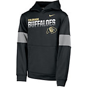 Nike Youth Colorado Buffaloes Therma Football Sideline Pullover Black Hoodie
