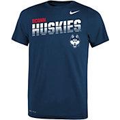 Nike Youth UConn Huskies Blue Legend Football Sideline T-Shirt