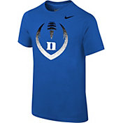 Nike Youth Duke Blue Devils Duke Blue Cotton Football Icon T-Shirt