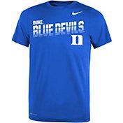 Nike Youth Duke Blue Devils Duke Blue Legend Football Sideline T-Shirt
