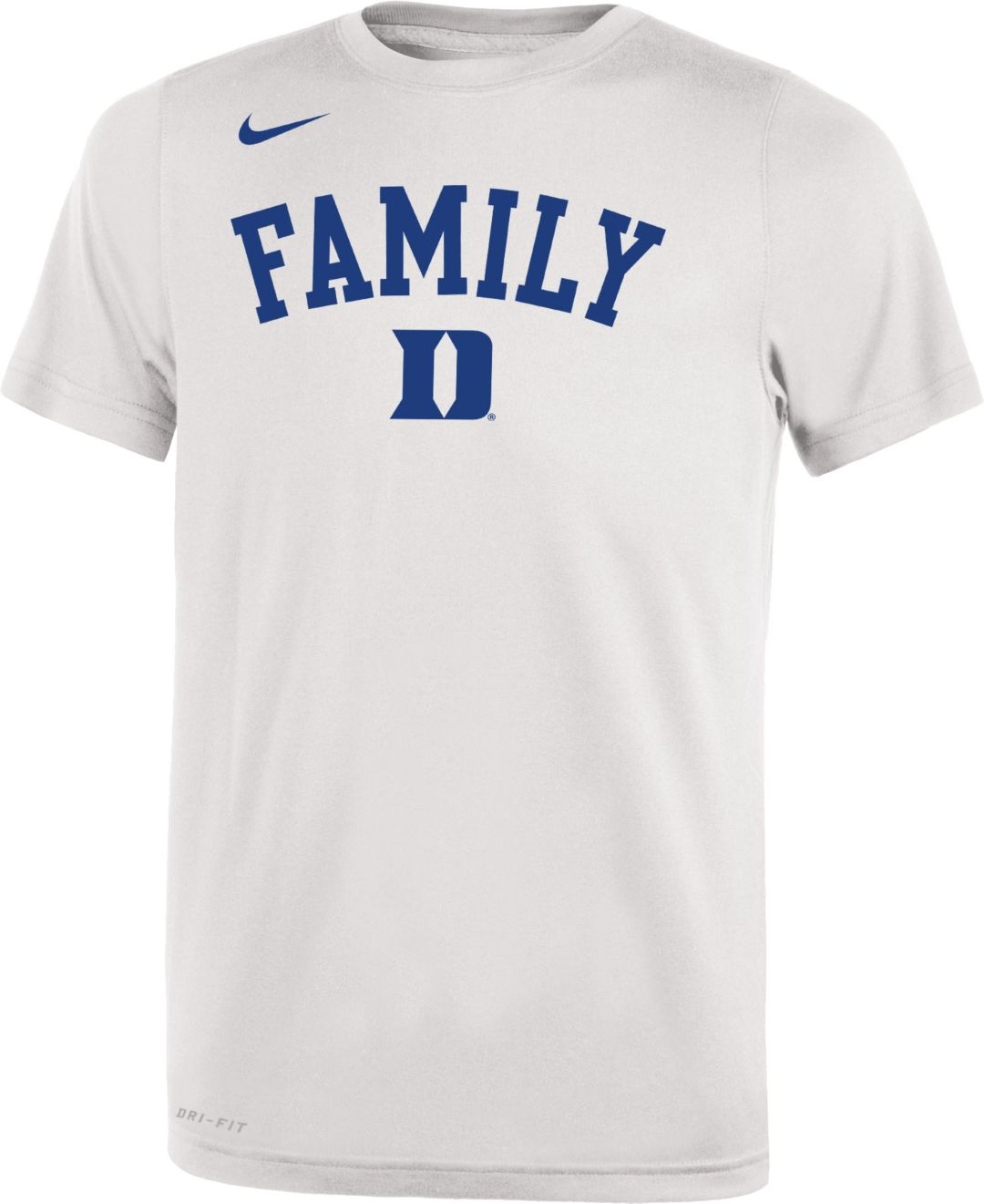 meet 5c86b ce52c Nike Youth Duke Blue Devils 'Family' Bench White T-Shirt