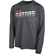 Jordan Youth Florida Gators Grey Legend Football Sideline Long Sleeve T-Shirt